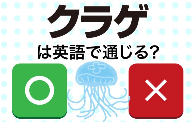 【クラゲ】って英語で通じる?
