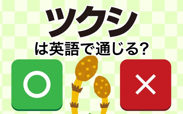 【ツクシ】は英語で通じる?通じない和製英語?