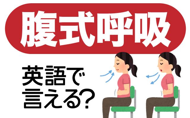 健康に良いとされる【腹式呼吸】は英語で?