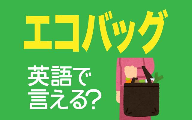 【エコバッグ】は英語で通じる?通じない和製英語?