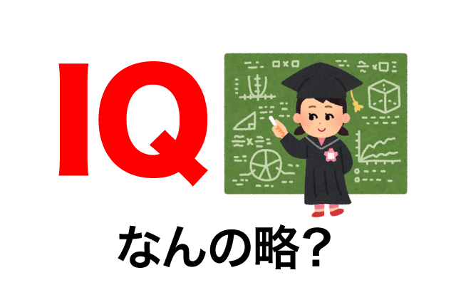 知能指数を意味する【IQ】って英語で何の略?