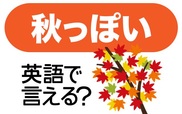 秋の季節を感じる【秋っぽい】は英語で何て言う?