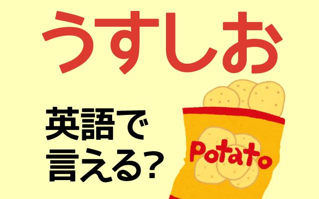 ポテトチップスの【うすしお】は英語で何て言う?
