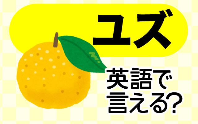 【柚子(ユズ)】は英語で何て言う?