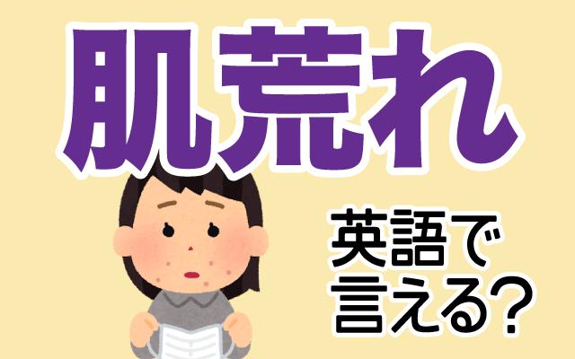 お肌のトラブル【肌荒れ】は英語で何て言う?
