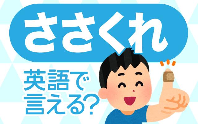爪や指の【ささくれ】は英語で何て言う?