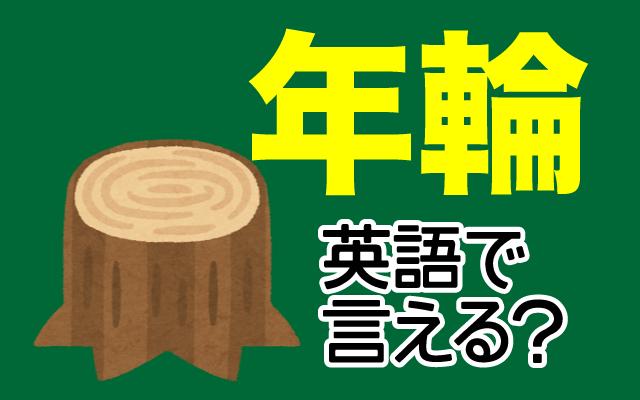 木の【年輪】は英語で何て言う?