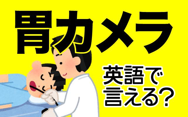 健康診断などで行う【胃カメラ】は英語で何て言う?