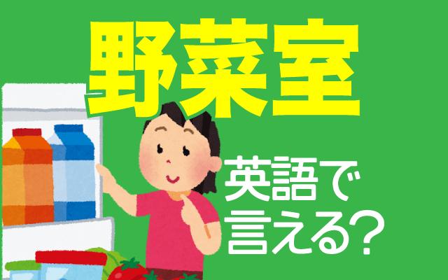 冷蔵庫の【野菜室】は英語で何て言う?