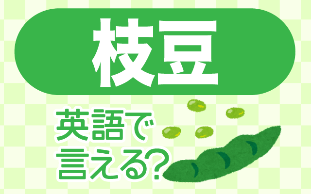 おつまみの定番【枝豆】は英語で何て言う?